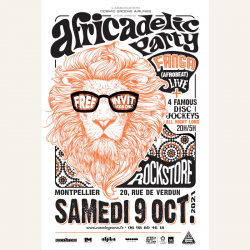 africadelic party . Cosmic Groove Airlines . Montpellier . Fanga