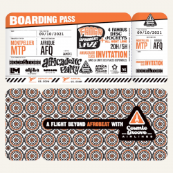 Cosmic Groove Airlines . Boarding Pass