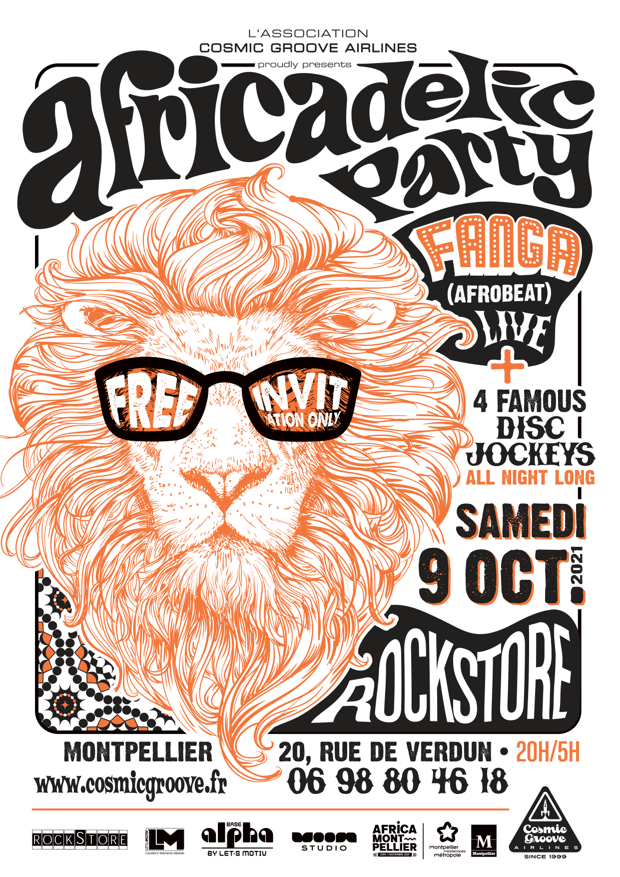 Africadelic Party . Africa - Montpellier . Rockstore . Fanga