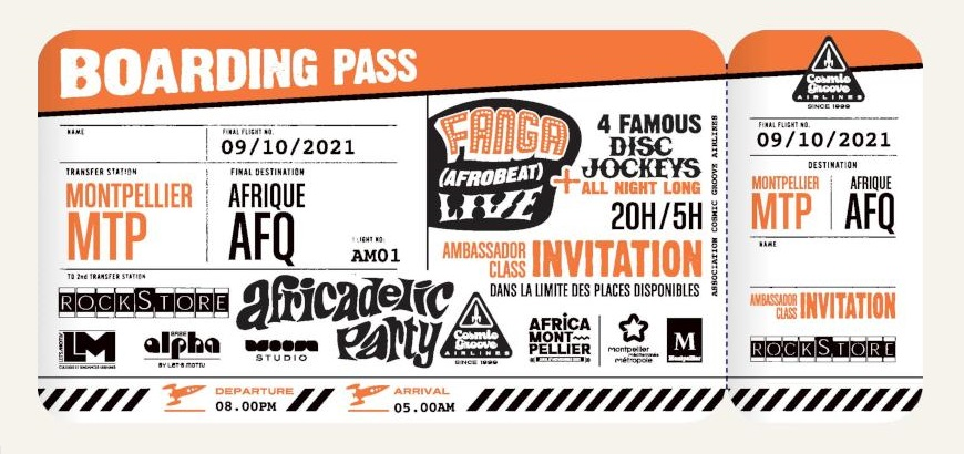 Boarding Pass Africadelic Party au Rockstore avec Fanga